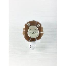 Veille Sur Toi Veilleuse en verre Léo le Lion/Vert par Veille sur Toi, Veille sur Toi Lion Glass Nightlight