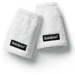 BabyBjörn Protège-Sangles pour Porte-Bébé de BabyBjörn/BabyBjörn Teething Pads for Baby Carrier, Blanc/White