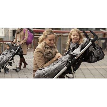 7 A.M 7AM Poncho Pookie pour Porte-Bébé et Poussette/7AM Pookie Poncho for Baby Carrier and Stroller, Gris Métalique/Metallic Grey