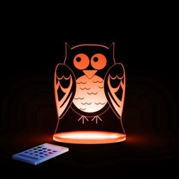 Aloka Sleepy Lights *Veilleuse et Lampe de Chevet Multicolore de Aloka Sleepi Lights/Aloka Sleepi Lights Multicolored NightLight and Side Lamp, Hibou/Owl