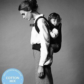 BabyBjörn BabyBjörn - Porte-Bébé One/One Baby Carrier, Noir/Black, Mélange de Coton/Cotton Mix