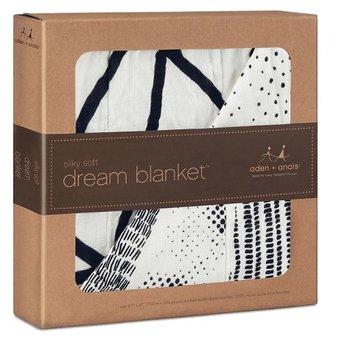 Aden + Anais Couverture de Rêve en Bambou/ Bamboo Dream Blanket, Midnight (Stylo)