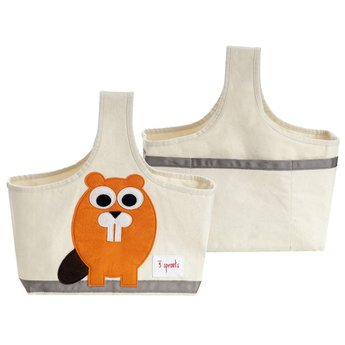 3 sprouts *Petit Panier de Rangement, Castor, Orange/Storage Caddy, Beaver, Orange