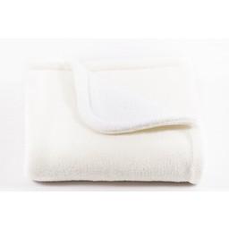 Bouton Jaune Bouton Jaune - Piqué en Ratine/Ratine Lap Pad, Blanc/White, Petit/Small