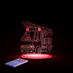 Aloka Sleepy Lights Veilleuse et Lampe de Chevet Multicolore de Aloka Sleepi Lights/Aloka Sleepi Lights Multicolored NightLight and Side Lamp, Camion de Pompier/Fire Engine