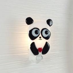 Veille Sur Toi Veilleuse en Verre Elliot le Panda par Veille sur Toi, Veille sur Toi Nightlight Panda Elliot