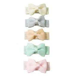 Baby Wisp Baby Wisp - Ensemble de 5 Petites Barrettes Tuxedo / Small Snap 5 Pack Tuxedo Bows, Pastel