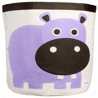 3 sprouts *Panier de Rangement, Hippopotame, Mauve/Storage Bin, Hippo, Purple