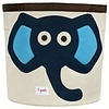 3 sprouts *Panier de rangement, Éléphant, Bleu/Storage Bin, Elephant, Blue