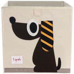 3 sprouts 3 Sprouts - Boîte de Rangement/Storage Box, Chien Brun/Brown Dog