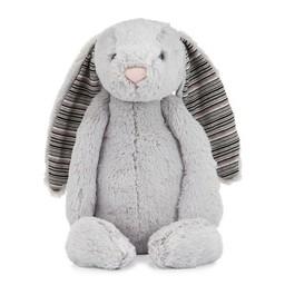 Jellycat *Lapin Bashful Blake de Jellycat/Jellycat Bashful Blake Bunny, Gris Pâle/Light Grey, Moyen/Medium, 12 Pouces/12 Inches