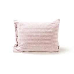 Bouton Jaune *Bouton Jaune - Cache-Oreiller 12x16 Pouces en Coton Organique, Mon Petit Loup/Mon Petit Loup 12x16 Inches Pillow Cover, Rayé Rose et Gris/Pink and Grey Stripes