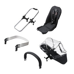 Bugaboo Bugaboo, Donkey1 - Extension Duo/Duo Extension, Aluminium-Noir/Black