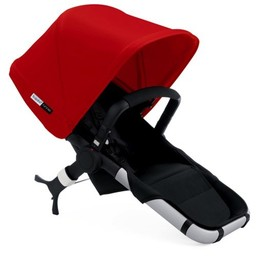 Bugaboo Bugaboo Runner - Siège et capote extensible Rouge/Bugaboo Runner Seat with red extendable sun canopy