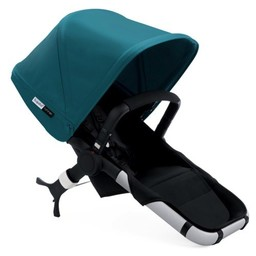 Bugaboo Bugaboo Runner - Siège et capote extensible Bleu Pétrole/Bugaboo Runner Seat with  petrol blue extendable sun canopy