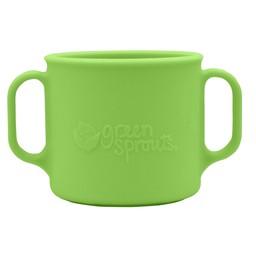 Green Sprouts *Tasse d'Apprentissage en Silicone de Green Sprouts/Green Sprouts Silicone Learning Cup, Vert/Green