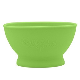Green Sprouts Bol d'Apprentissage en Silicone de Green Sprouts/Green Sprouts Silicone Learning Bowl, Vert/Green