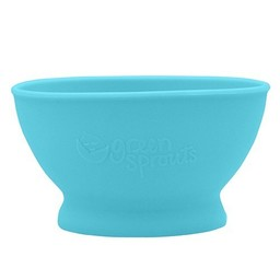 Green Sprouts Bol d'Apprentissage en Silicone de Green Sprouts/Green Sprouts Silicone Learning Bowl, Aqua