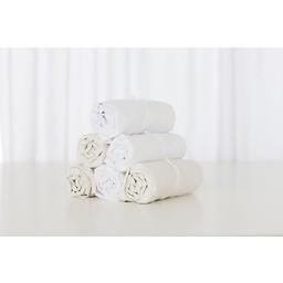 Bouton Jaune Bouton Jaune - Drap Contour en Coton/Cotton Fitted Sheet, Blanc/White