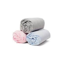 Bouton Jaune *Drap Contour en Coton de Bouton Jaune/Bouton Jaune Cotton Fitted Sheet, Rose/Pink