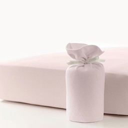 Bouton Jaune Bouton Jaune - Drap Contour en Coton Organique/Organic Cotton Fitted Sheet, Rose/Pink