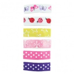 Baby Wisp Baby Wisp - Ensemble de 6 Barrettes de la Collection Urbaine / Urban Collection Snap Clips 6-Pack