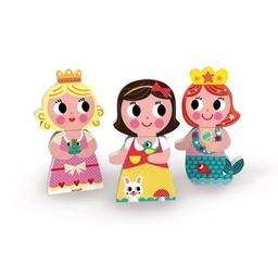 Janod *Aimants Amusants de Janod /Janod Funny Magnet, Groupe Princesse/Princess