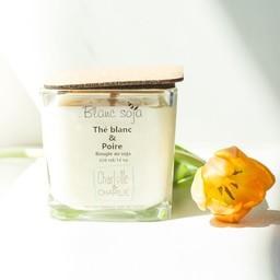 BlancSoja Bougie au Soja Exclusive Thé Blanc et Poire de Blanc Soja, 420 ml/Exclusive Soja Candle White Tea and Pear from Blanc Soja, 420 ml