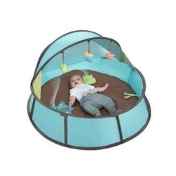 Babymoov Tente Anti-UV Babyni de Babymoov, Babymoov Babyni Anti-UV Tent, Bleu et Taupe/ Blue and Taupe