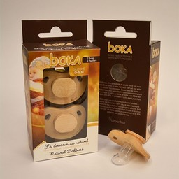 Boka Boka - Suces en Bois et Silicone/Wood and Silicone Pacifiers, 0-6 mois/months