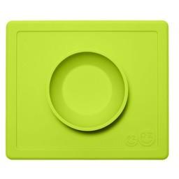 Ezpz EzPz - Napperon et Bol Tout-en-un Happy Bowl/Happy Bowl All-in-one Placemat and Bowl, Lime