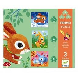 Djeco Djeco - Primo Puzzle/Primo Puzzle, Lapins/Rabbits