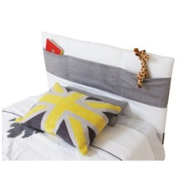Dutailier Dutailier - Housse de Tête de Lit Rembourrée avec Pochettes (1 Couleur de Tissu)/Soft Bedhead with Storage Pockets (1 Color Fabric)