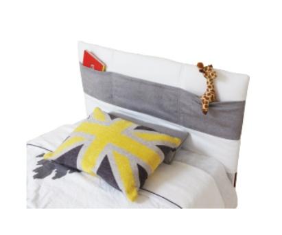 Dutailier dutailier housse de t te de lit rembourr e avec pochettes 2 couleurs de tissu soft - Housse de tete de lit ...