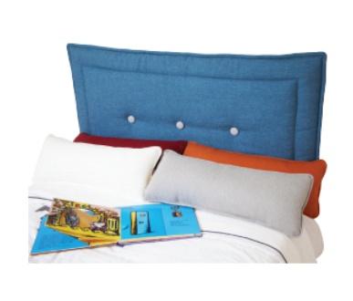 Dutailier dutailier housse de t te de lit rembourr e avec boutons 2 couleurs de tissu soft - Housse de tete de lit ...