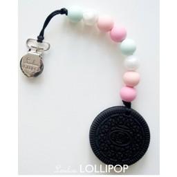 Loulou Lollipop Jouet de Dentition Biscuit de Loulou Lollipop/Loulou Lollipop Cookie Teether, Rose et Menthe/Pink and Mint