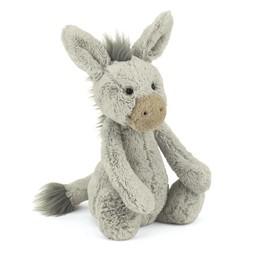 Jellycat Âne Bashful de Jellycat/Jellycat Bashful Donkey, Moyen/Medium, 12 pouces/12 inches