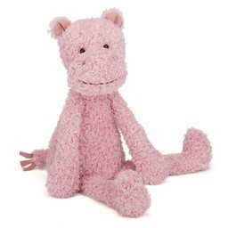 Jellycat *Hippopotame Sauvage de Jellycat/Jellycat Wild Thing Hippo, Rose/Pink, Grand/Large, 15 pouces/inches