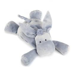 Jellycat Âne Dozydou de Jellycat/Jellycat Dozydou Donkey, Gris/Grey, Moyen/Medium, 12 pouces/inches