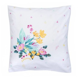 Catimini *Taie d'Oreiller de Catimini/Catimini Pillow Case, 64x64cm, Île aux Fleurs