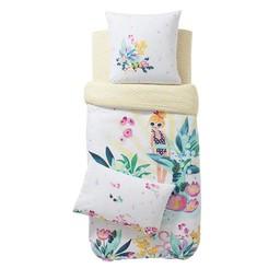 Catimini Catimini - Drap Contour pour Lit Simple/Fitted Sheet for Single Bed, 99x193cm, Île aux Fleurs