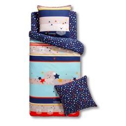 Catimini Catimini - Housse de Couette pour Lit Simple/Duvet Cover for Single Bed, 168x219cm, L'Ours et l'Étoile