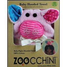 Zoocchini Sortie de Bain pour Bébé de Zoocchini/Zoocchini Baby Towel, Pinky le Porcinet/Pinky the Piglet