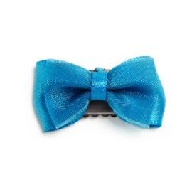Baby Wisp Baby Wisp - Mini Latch Petite Barrette Organza et Satin / Mini Latch Organza and Satin Bow, Bleu Cendrillon/Cinderella Blue