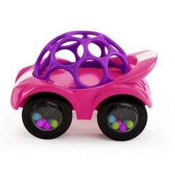 Oball *Voiture Hochet de Oball/Oball Rattle and Roll Car, Rose/Pink