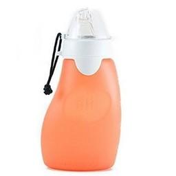 The Sili Company Pochette à Collation Réutilisable de Silicone SIli Squeeze/Sili Squeeze Silicone Squeeze Pouch, Orange  4 oz/118ml