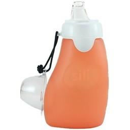 The Sili Company Pochette à Collation Réutilisable pour Enfant de Silicone SIli Squeeze/Sili Squeeze Silicone Squeeze Pouch For Kids, Orange  6 oz/180ml