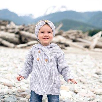 Beba Bean Beba Bean - Bandeau en Tricot/Knit Headband, Gris/Grey 6-12 mois/months