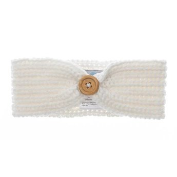 Beba Bean Beba Bean - Bandeau en Tricot/Knit Headband, Ivoire/Ivory 6-12 mois/months