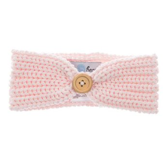 Beba Bean Beba Bean - Bandeau en Tricot/Knit Headband, Rose/Pink 6-12 mois/months